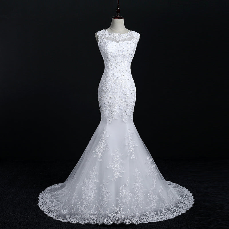 Althea Lacy Mermaid Wedding Dresses