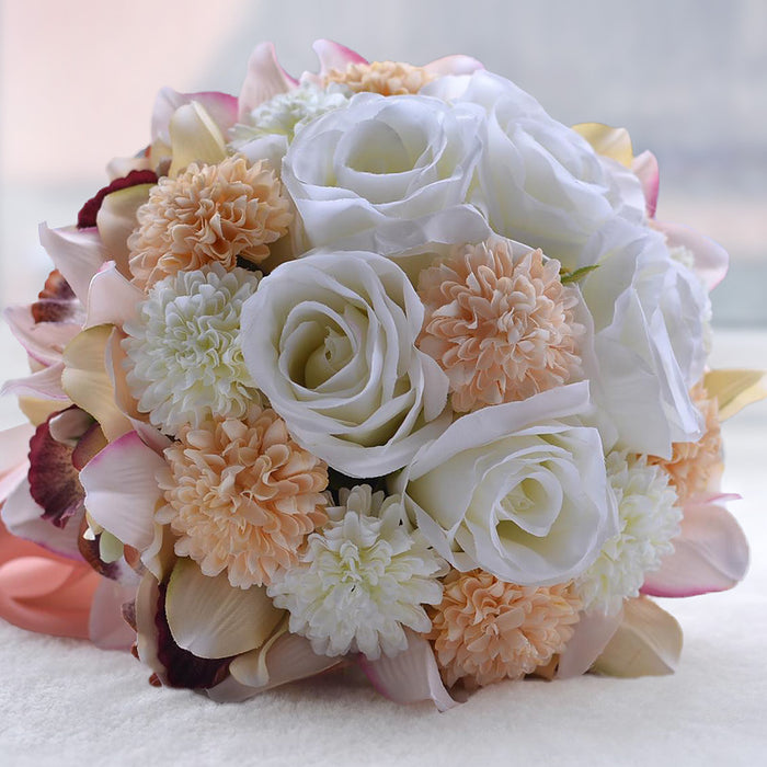 Rose & Cymbidium Bridal Bouquet