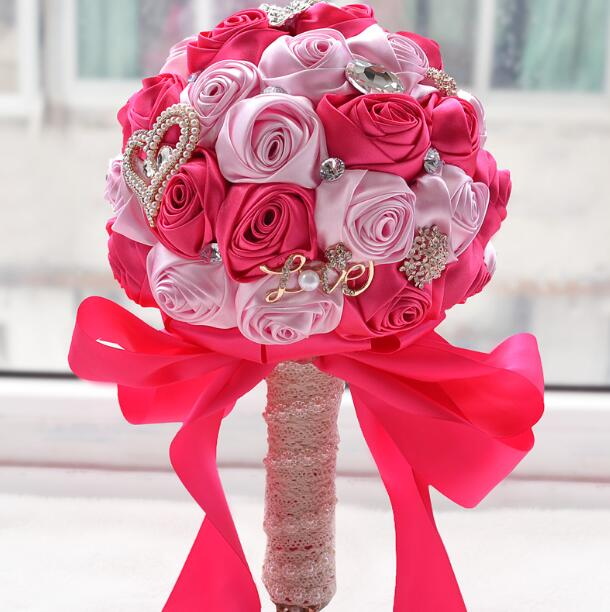 Diamond & Pearl Decorated Flower Bouquet