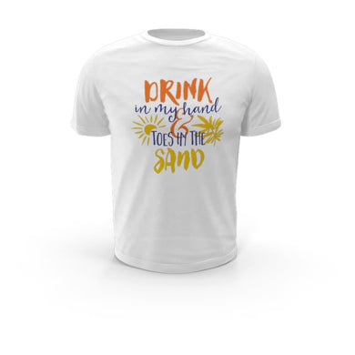 Drink In My Hand Toes In The Sand Drifit Shirt - T-Shirt