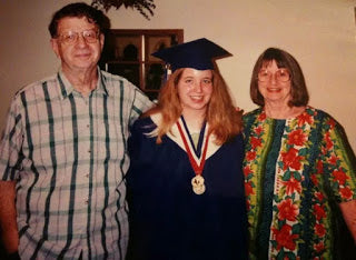 Before Narcolepsy, Class of 1999 Duncanville High School Rachel Nesmith with my Grandparents McAllister