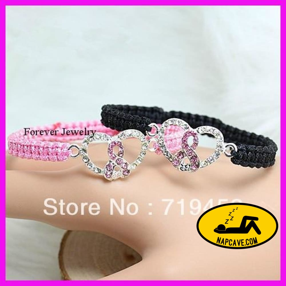 10pcs/lot Pink Ribbon Breast Cancer Awareness bracelets black and pink Jewelry Aliex 10pcs/lot Pink Ribbon Breast Cancer Awareness bracelets