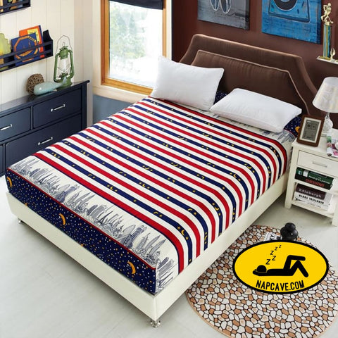 3pcs bedding set bed sheet fitted sheet pillowcase bedding bedsheet mattress cover protective case bedclothes queen king size The NapCave