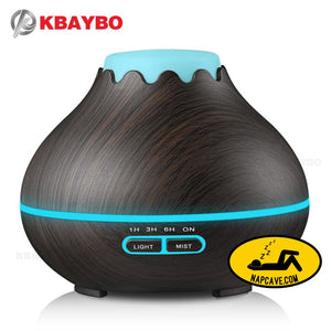 400ml Air Humidifier Essential Oil Diffuser Aroma Lamp Aromatherapy Electric Aroma Diffuser Mist Maker for Home-Wood Essential Oil diffuser