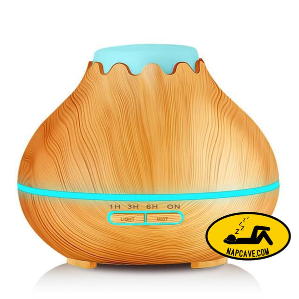 400ml Air Humidifier Essential Oil Diffuser Aroma Lamp Aromatherapy Electric Aroma Diffuser Mist Maker for Home-Wood light wood / China / AU