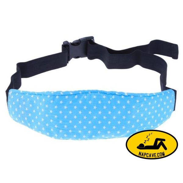 Adjustable Safety Baby Kid Car Seat Sleep Nap For Stroller Aid Head Band Support Holder Belt Stroller Accessories Electric Blue Car seat