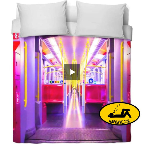 All Aboard The Nite Night Train Duvet Covers NapCave All Aboard The Nite Night Train RageOn Connect rspid3998871912536