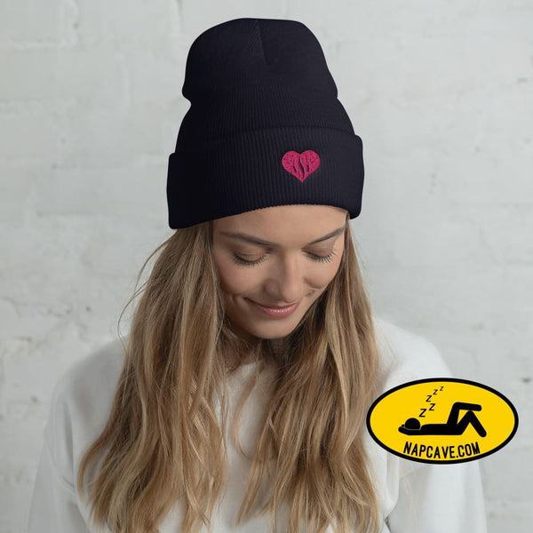 ASL (I Red Heart Love American Sign Language) Cuffed Beanie The NapCave ASL (I Red Heart Love American Sign Language) Cuffed Beanie American
