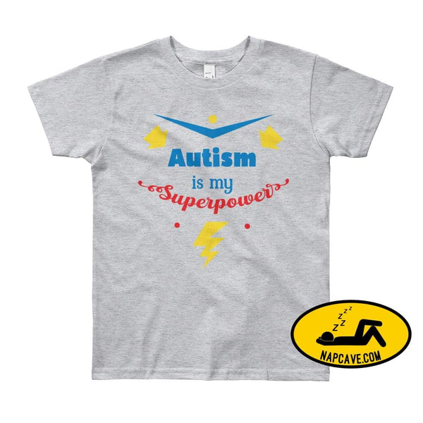Autism is my SuperPower Heather Grey / 8yrs shirt Nap Cave Autism is my SuperPower autism chronic illness chronic pain disability dont give