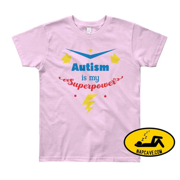 Autism is my SuperPower Pink / 8yrs shirt Nap Cave Autism is my SuperPower autism chronic illness chronic pain disability dont give up