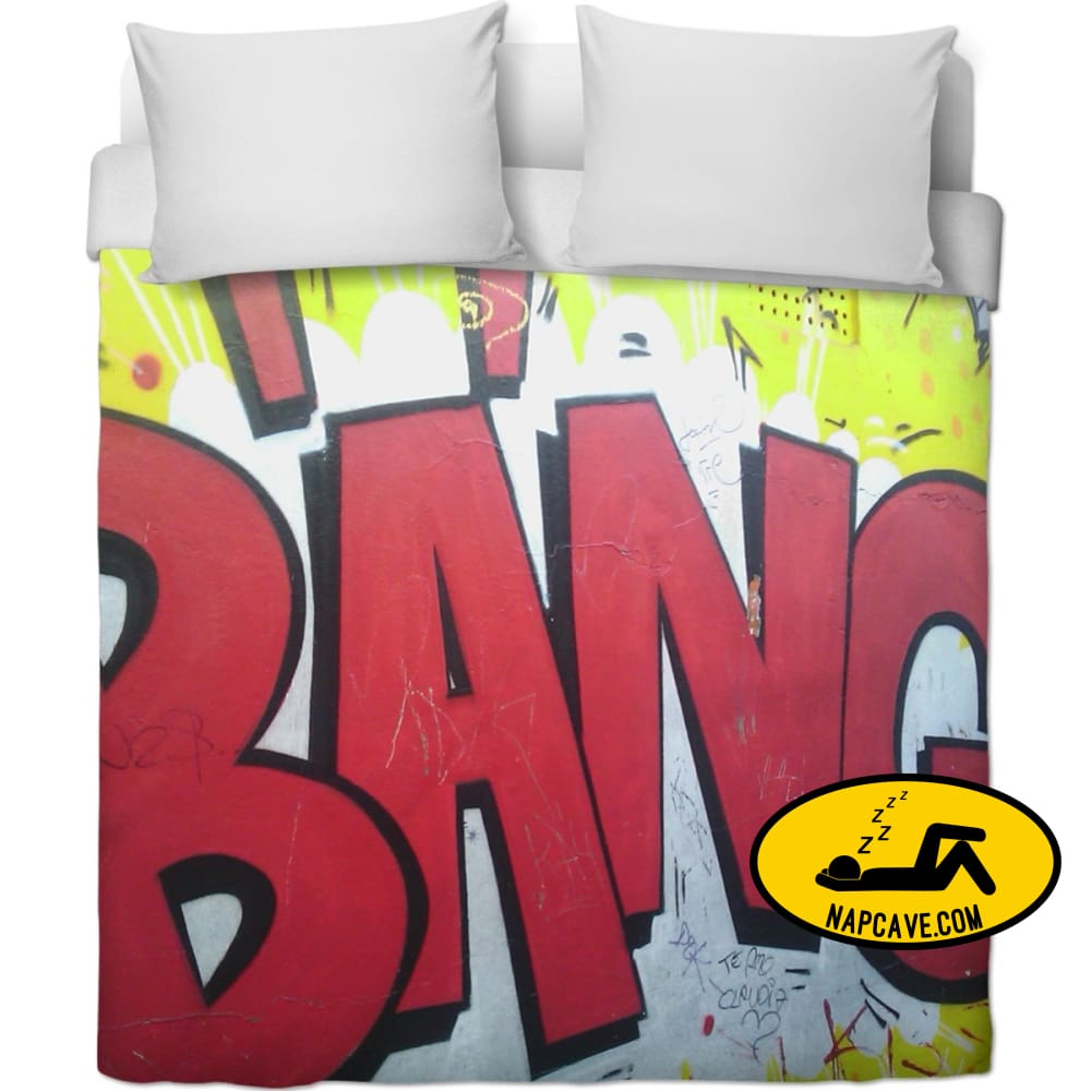 Bang! Sleep Is The Fuel You Need To Conquer The Day! Duvet Covers NapCave Bang! Sleep Is The Fuel You Need To Conquer The Day! blanket
