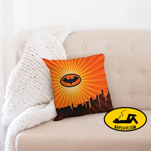 bat Throw Pillow Case 16x16 Pillow The NapCave bat Throw Pillow Case 16x16 Batman Batman has Narcolepsy couch pillow nap pillow pillow