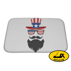 Bath Mat Americanstyle Character With A Beard Glasses Mustache And Glasses Logo On A Bath Mat Gear New Bath Mat Americanstyle Character With