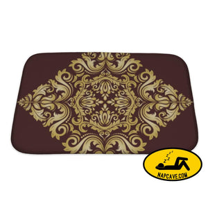 Bath Mat Damask Pattern Orient Golden Ornament Bath Mat Gear New Bath Mat Damask Pattern Orient Golden Ornament bath bathroom card carpet