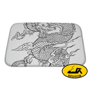 Bath Mat Dragon Tattoo Illustration Bath Mat Gear New Bath Mat Dragon Tattoo Illustration asia asian bath bathroom beast
