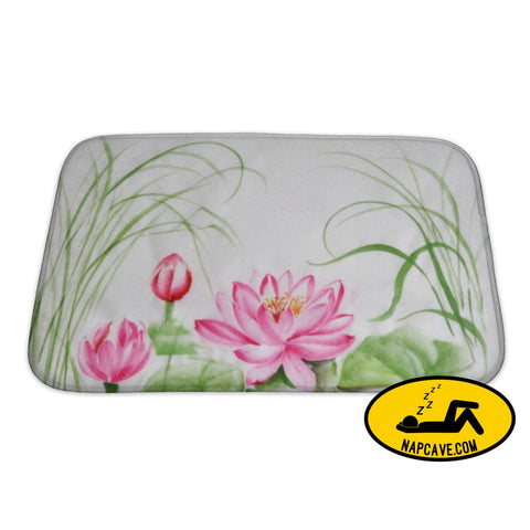 Bath Mat Lotus Flower Watercolor Painting Bath Mat Gear New Bath Mat Lotus Flower Watercolor Painting bath bathroom beautiful beauty black
