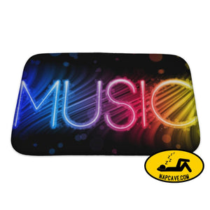 Bath Mat Music Party Abstract Colorful Waves On Black Bath Mat Gear New Bath Mat Music Party Abstract Colorful Waves On Black background