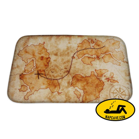 Bath Mat Old Treasure Map Bath Mat Gear New Bath Mat Old Treasure Map atlas bath bathroom brown dig