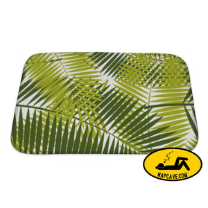 Bath Mat Palm Leaf Pattern Illustration Bath Mat Gear New Bath Mat Palm Leaf Pattern Illustration backgrounds bath bathroom beaches beauty