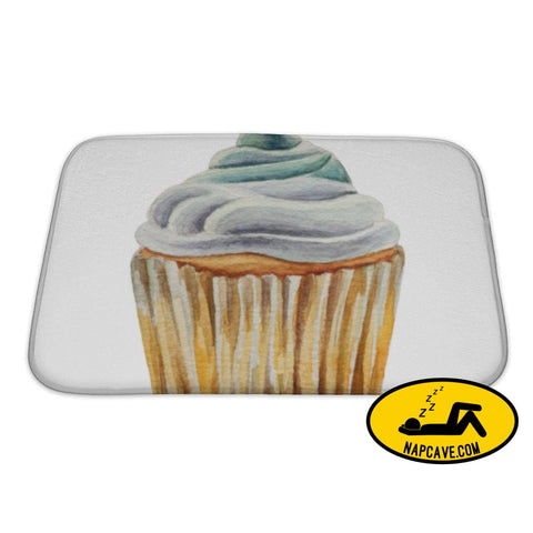 Bath Mat Watercolor Cupcake Isolated Bath Mat Gear New Bath Mat Watercolor Cupcake Isolated baked bakery bath bathroom birthday