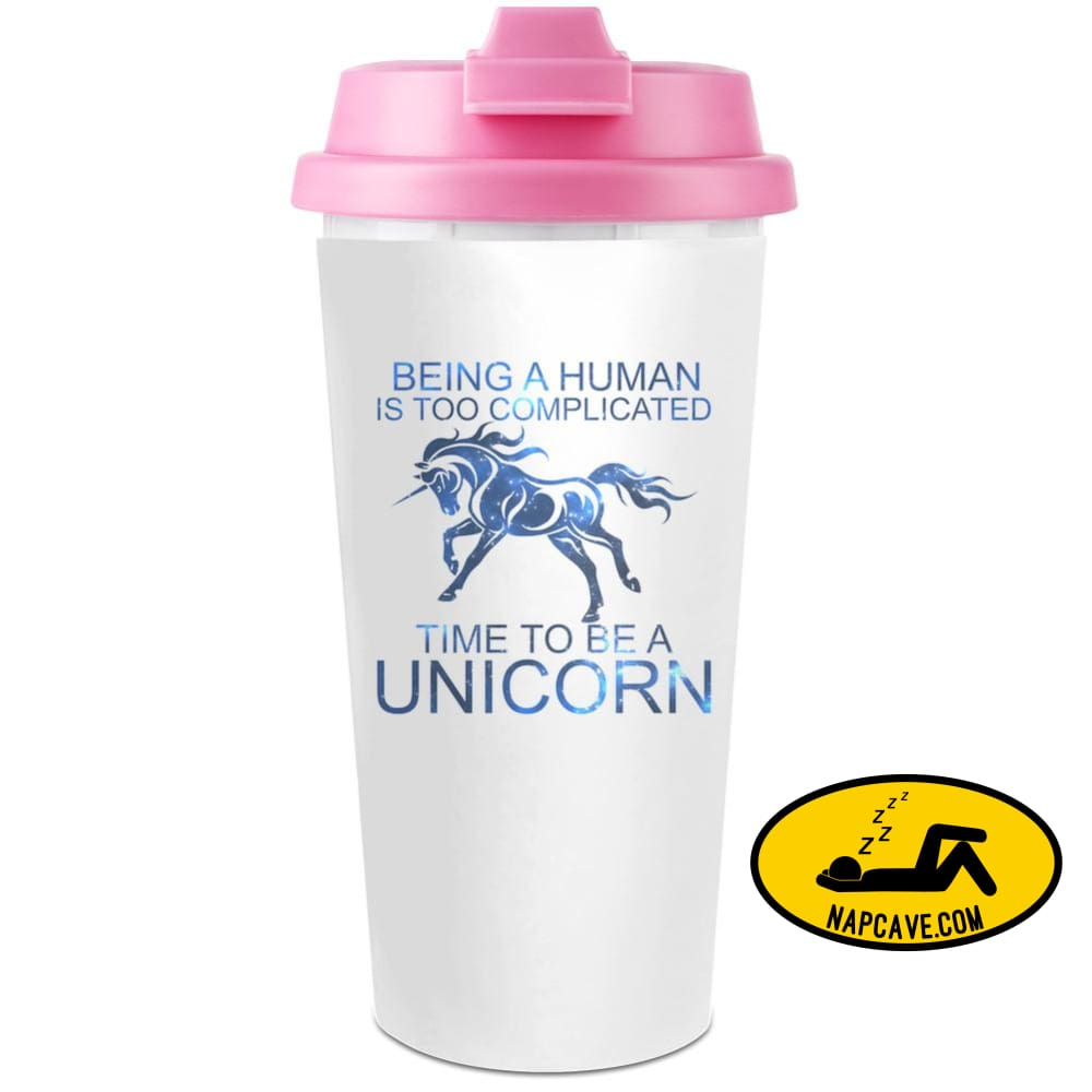 Be A Unicorn Plastic Travel Coffee Cup - 450 ml - Mug aliex Be A Unicorn Plastic Travel Coffee Cup - 450 ml - coffee cup drink Mug unicorn