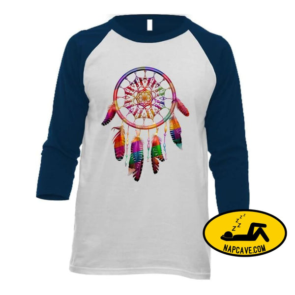 Be The Dreamcatcher Ladies T-Shirt Baseball Raglan / White/Navy / Small T-Shirt Tshirtgang Be The Dreamcatcher Ladies T-Shirt be chronic