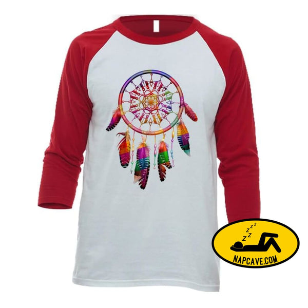 Be The Dreamcatcher Ladies T-Shirt Baseball Raglan / White/Red / Small T-Shirt Tshirtgang Be The Dreamcatcher Ladies T-Shirt be chronic