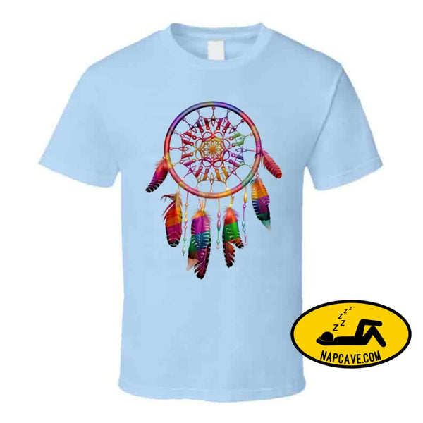 Be The Dreamcatcher Ladies T Shirt Classic / Light Blue / Small T-Shirt Tshirtgang Be The Dreamcatcher Ladies T Shirt be dreamcatcher ladies