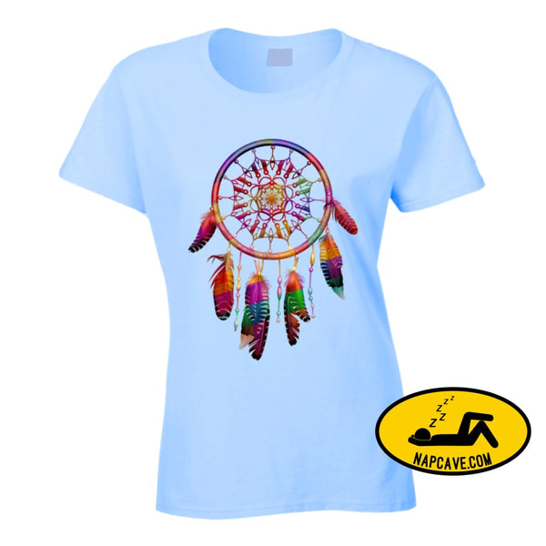 Be The Dreamcatcher Ladies T Shirt Ladies / Light Blue / Small T-Shirt Tshirtgang Be The Dreamcatcher Ladies T Shirt be dreamcatcher ladies