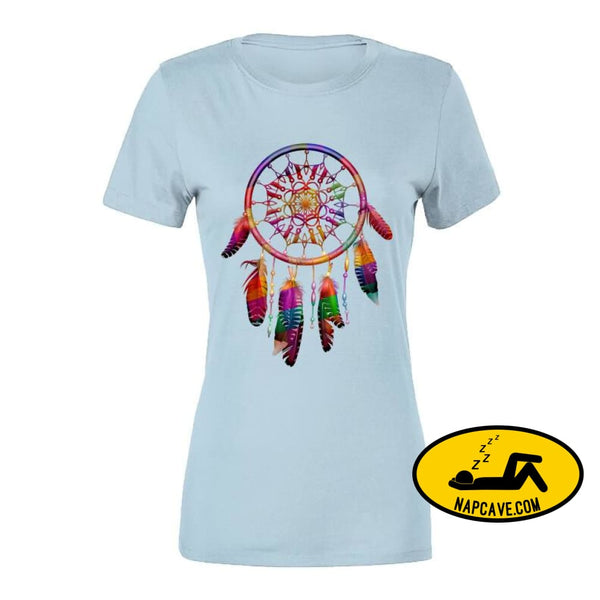 Be The Dreamcatcher Ladies T-Shirt Ladies Premium / Light Blue / Small T-Shirt Tshirtgang Be The Dreamcatcher Ladies T-Shirt be chronic