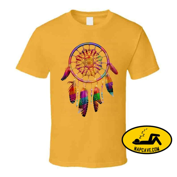 Be The Dreamcatcher T Shirt Classic / Gold / Small T-Shirt Tshirtgang Be The Dreamcatcher T Shirt be dreamcatcher various