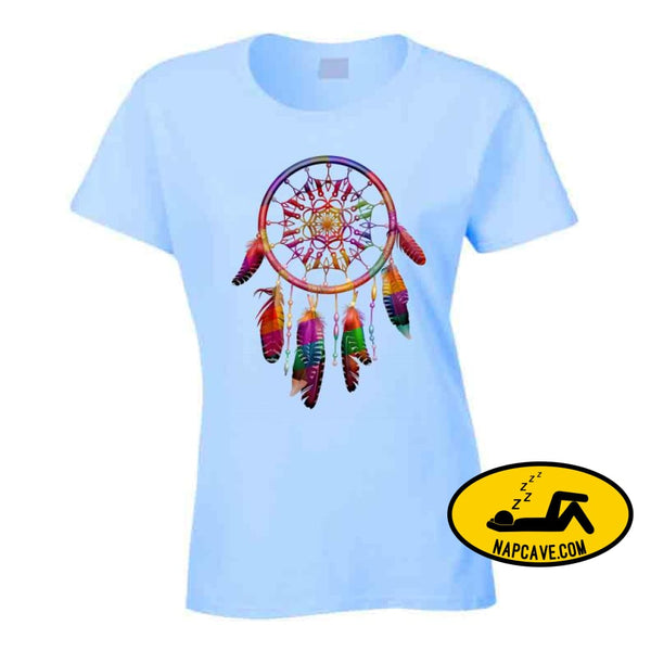 Be The Dreamcatcher T Shirt Ladies / Light Blue / Small T-Shirt Tshirtgang Be The Dreamcatcher T Shirt be dreamcatcher various