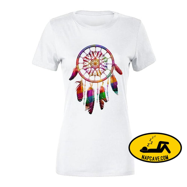Be The Dreamcatcher T Shirt Ladies Premium / White / Small T-Shirt Tshirtgang Be The Dreamcatcher T Shirt be dreamcatcher various