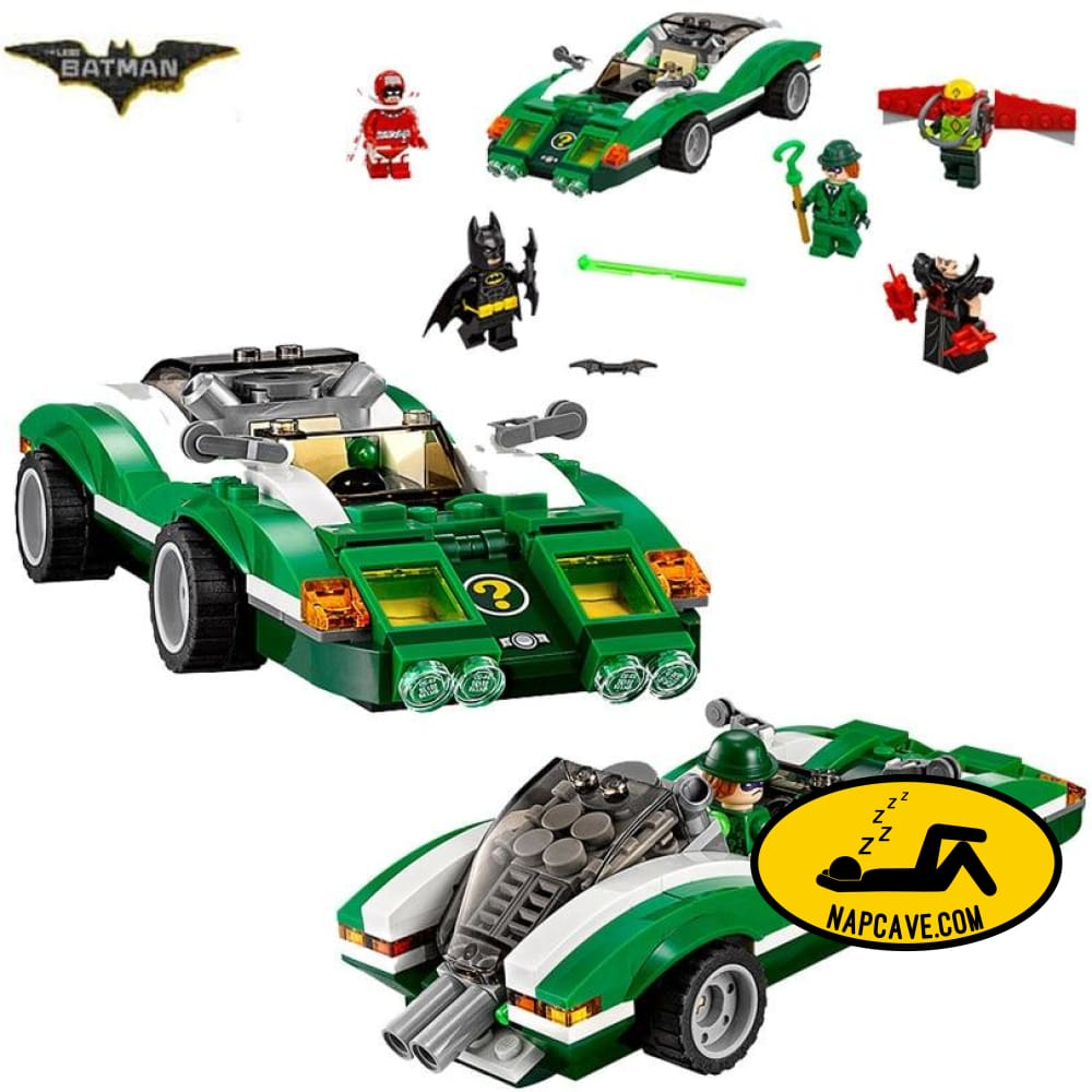 Bela 10630 Batman Movie The Riddler Riddle Racer Man-Bat Building Block 282pcs Bricks Toy Compatible With Bela 70903 Batman The NapCave Bela