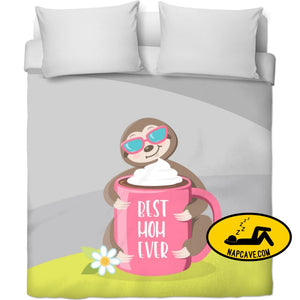 Best Mom Ever SlothLove! Duvet Covers NapCave Best Mom Ever SlothLove! RageOn Connect rspid3988619952216