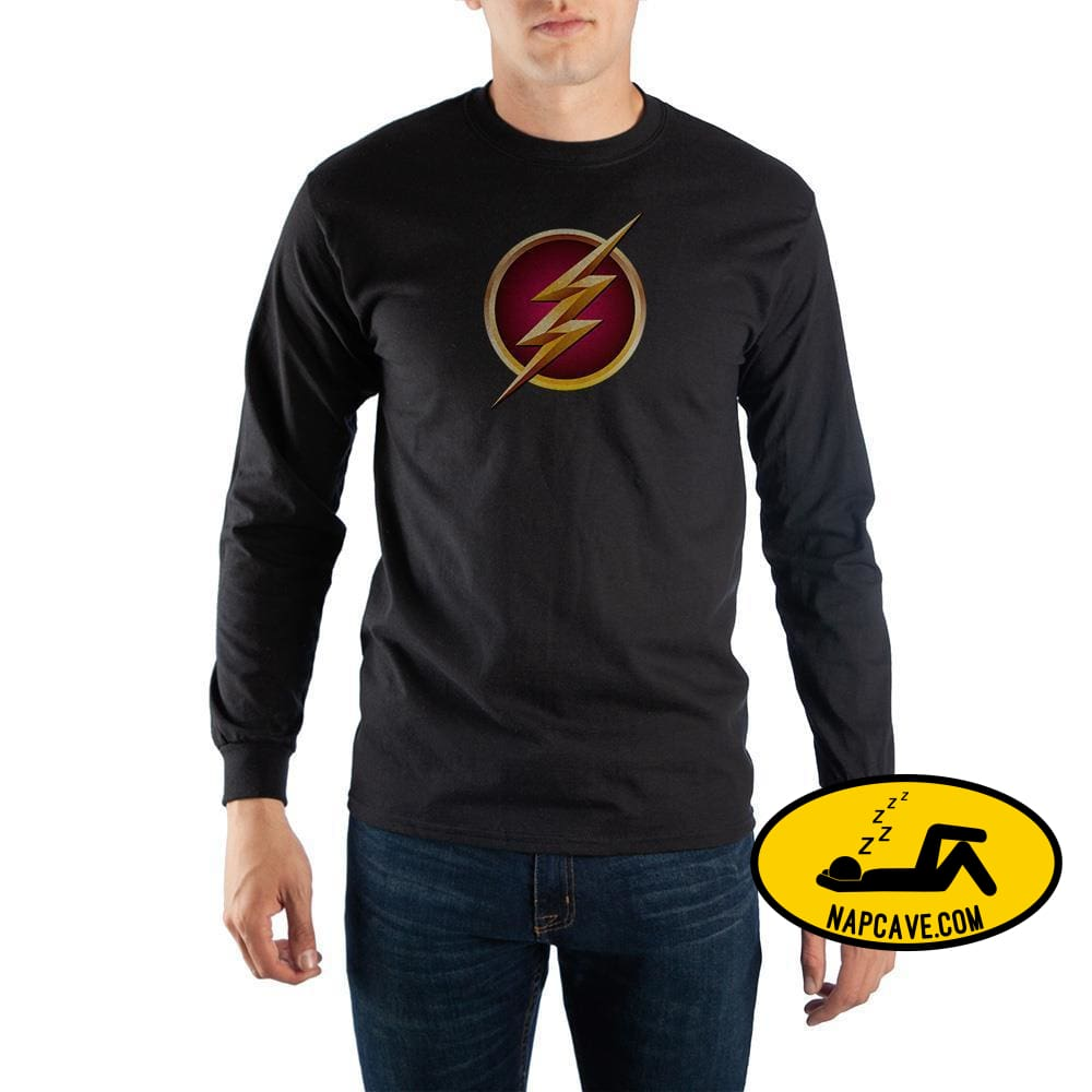 Black Long Sleeve Flash T-Shirt DC Comics Black Long Sleeve Flash T-Shirt mxed