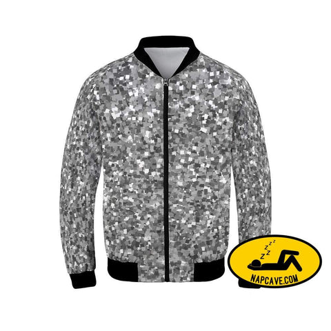 black sparkles Mens Bomber Jacket Jacket The NapCave black sparkles Mens Bomber Jacket glitter jacket pretty shiny