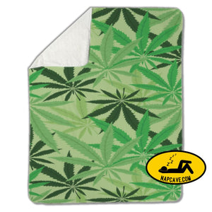 Blanket Green hemp cannabis marijuana leaves Blankets US Drop Ship Blanket Green hemp cannabis marijuana leaves blanket cover fleece sherpa