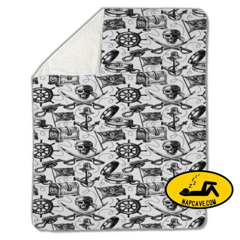 Blanket Pirate pattern Blankets US Drop Ship Blanket Pirate pattern blanket cover fleece sherpa