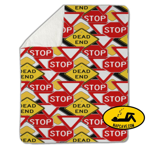 Blanket Traffic signs Blankets US Drop Ship Blanket Traffic signs blanket cover fleece sherpa