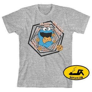 Boys Sesame Street Shirt Youth Cookie Monster Apparel Print on Demand Products Boys Sesame Street Shirt Youth Cookie Monster Apparel mxed
