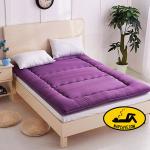 Breathable Mattress Polyester Fiber Comfortable Foldable Single Double Bed Mattress Topper Quilted Bed Bedding Mat Cushion The NapCave