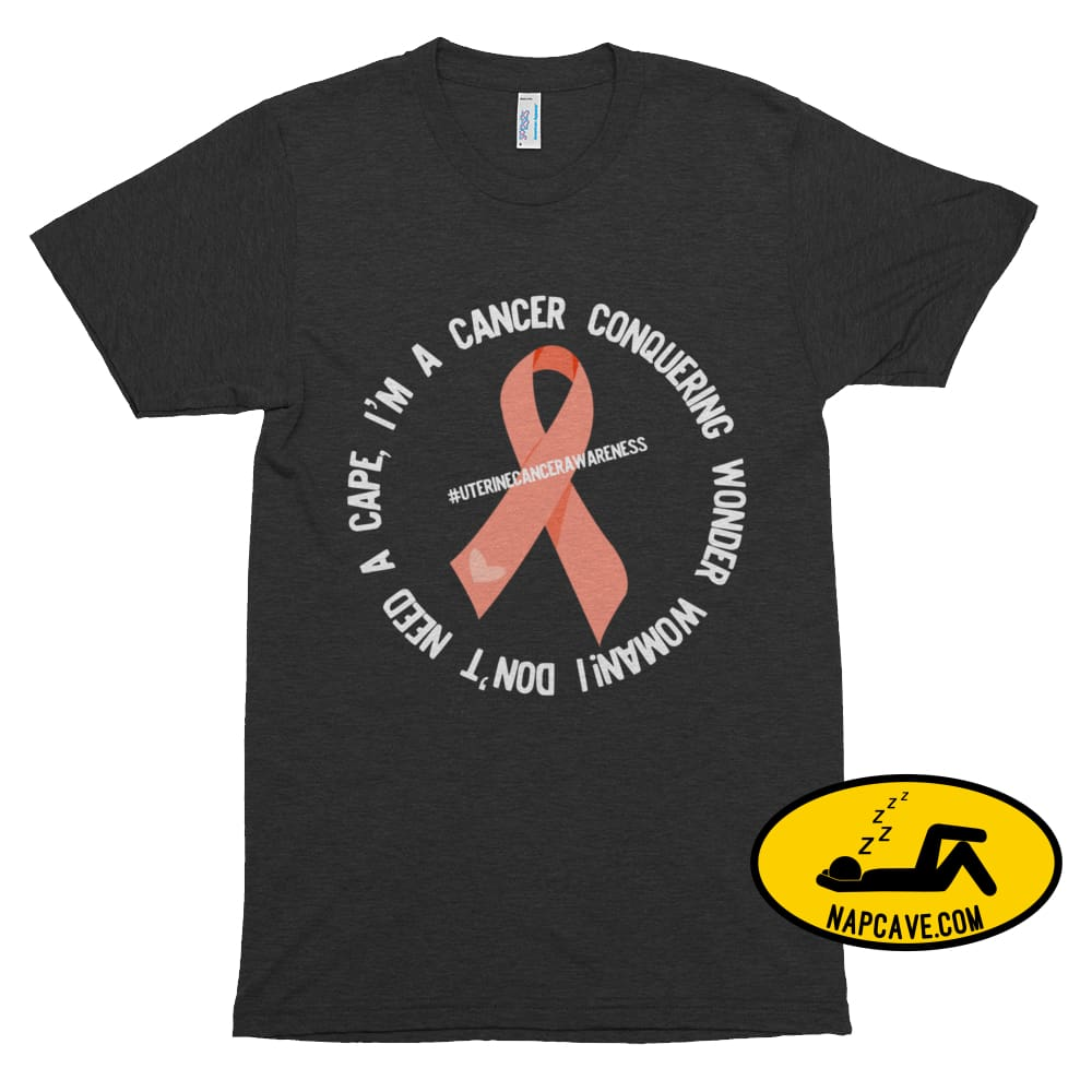 Cancer conquering Wonder Woman! Tri-Black / XS Nap Cave Cancer conquering Wonder Woman! napcave Narcolepsy Nightmare Shirt