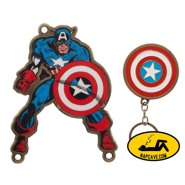 Captain America Keychain Marvel Key Holder Captain America Accessories - Marvel Keychain Captain America Gift [Low stock products] Captain