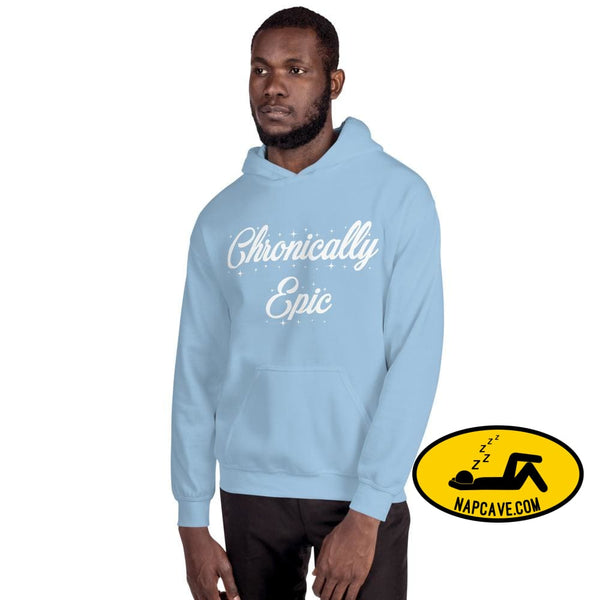 Chronically Epic Unisex Hoodie Light Blue / S The NapCave Chronically Epic Unisex Hoodie All I want for Christmas All I want for Christmas