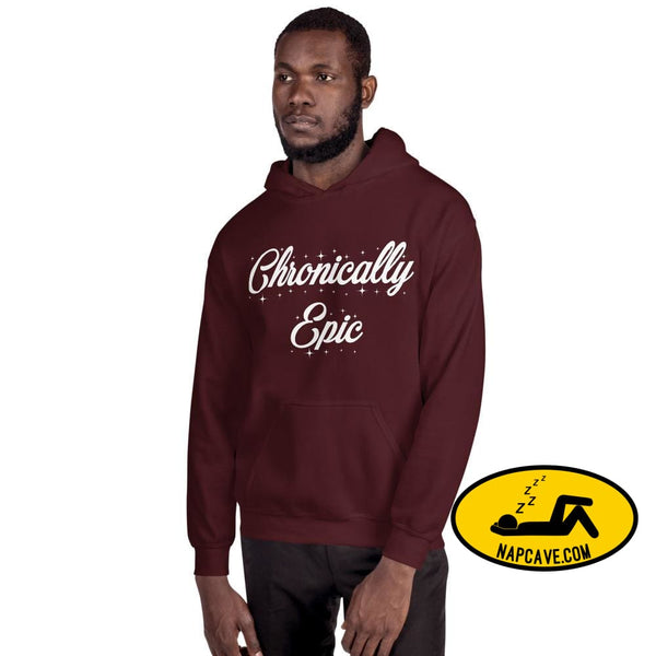 Chronically Epic Unisex Hoodie Maroon / S The NapCave Chronically Epic Unisex Hoodie All I want for Christmas All I want for Christmas are a
