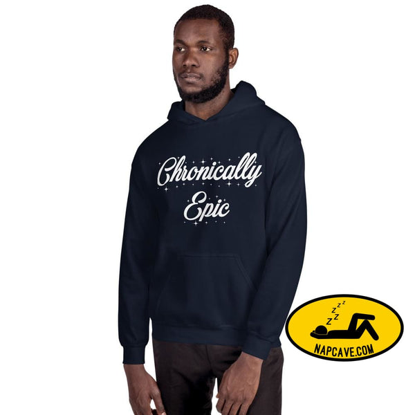 Chronically Epic Unisex Hoodie Navy / S The NapCave Chronically Epic Unisex Hoodie All I want for Christmas All I want for Christmas are a