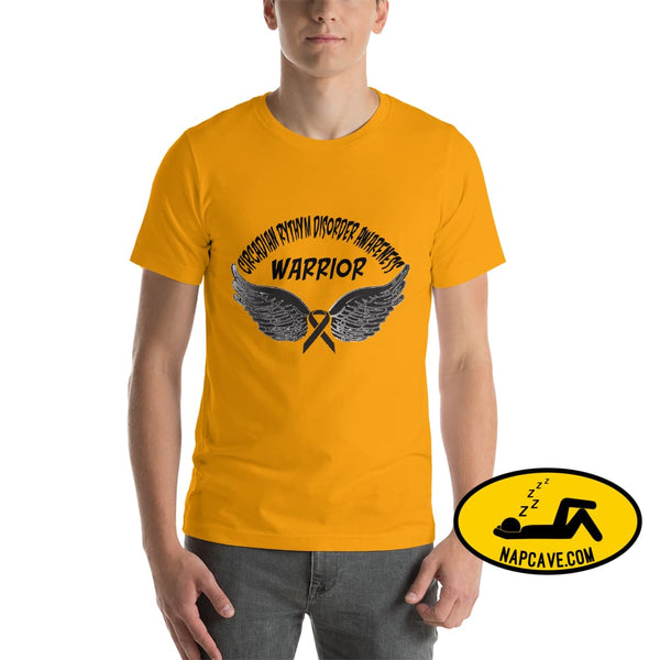Circadian Rhythm Disorder Awareness Warrior Unisex T-Shirt Gold / S SHIRT The NapCave Circadian Rhythm Disorder Awareness Warrior Unisex