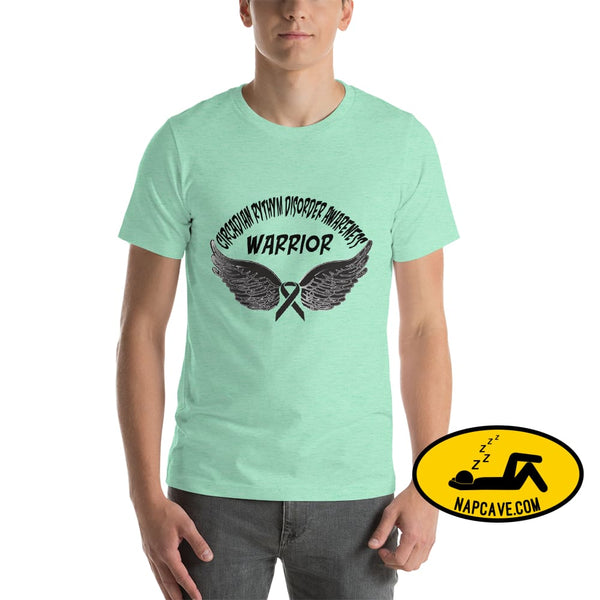 Circadian Rhythm Disorder Awareness Warrior Unisex T-Shirt Heather Mint / S SHIRT The NapCave Circadian Rhythm Disorder Awareness Warrior