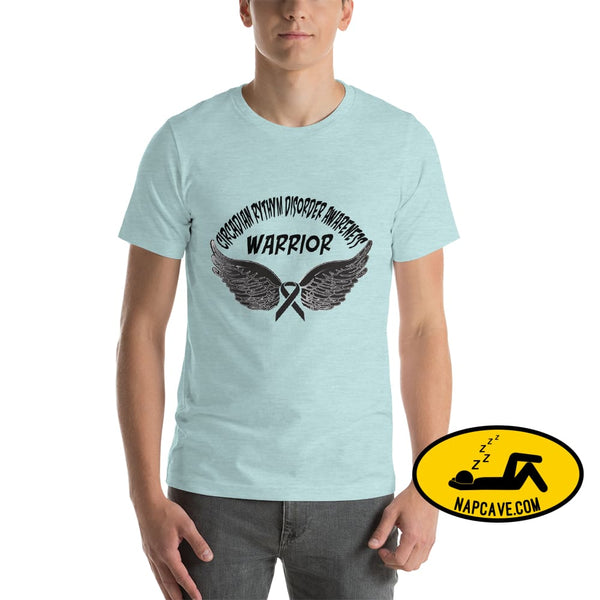 Circadian Rhythm Disorder Awareness Warrior Unisex T-Shirt Heather Prism Ice Blue / XS SHIRT The NapCave Circadian Rhythm Disorder Awareness